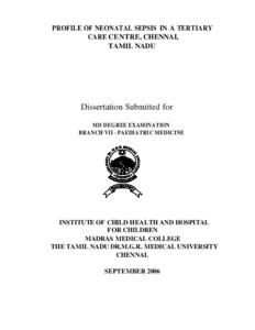 Dissertation master tetanus