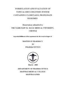 PREPARATION AND CHARACTERIZATION OF NIOSOMES CONTAINING ACECLOFENAC | PharmaTutor