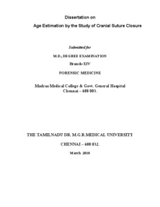 Age Estimation by the Study of Cranial Suture Closure
